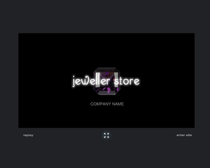 Jewelry, Flash intro template