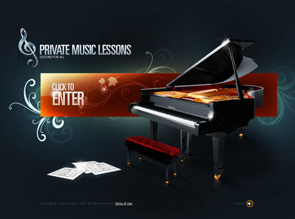 Name: Private Lessons - Type: VideoAdmin flash templates - Item number:300110420