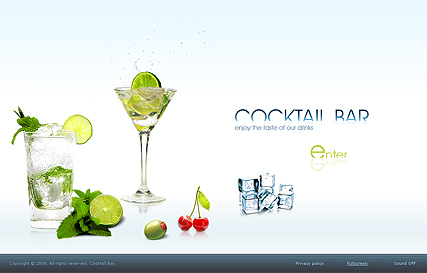 Cocktail Bar, Easy flash template