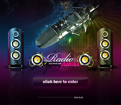 Radio Station Easy flash templates - ID: