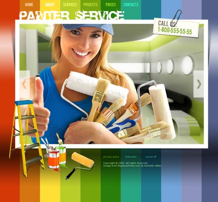 Painter Service, Easy flash template