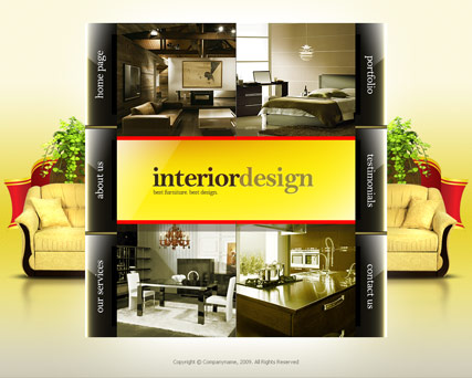 Interior design, Easy flash template