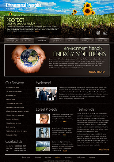 Ecology Protect., Website template
