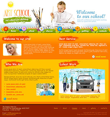 Art School, Website template