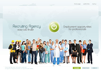 Recruiting Agency, Easy flash template