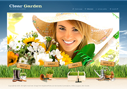 Garden Service, Easy flash template