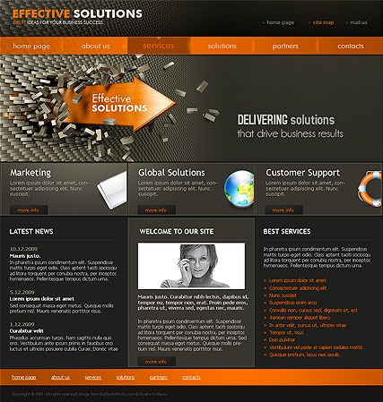 Solutions | Website template | ID:300110521