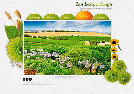 Landscape Design, Easy flash template