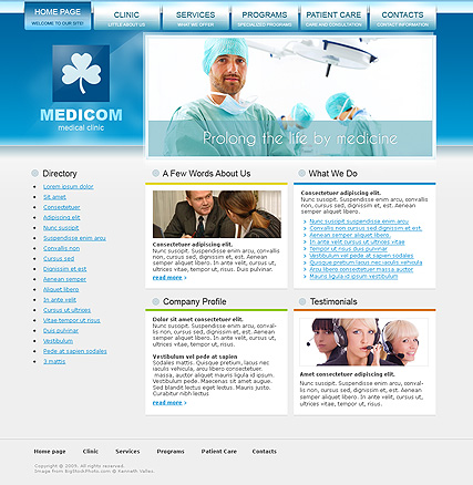 Medical Clinic | Website template | ID:300110531