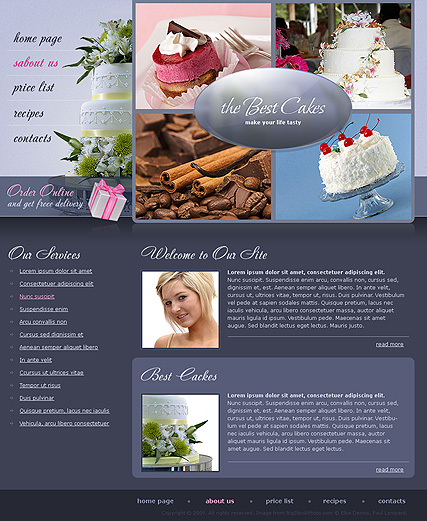 Best Cakes | Website template | ID:300110532