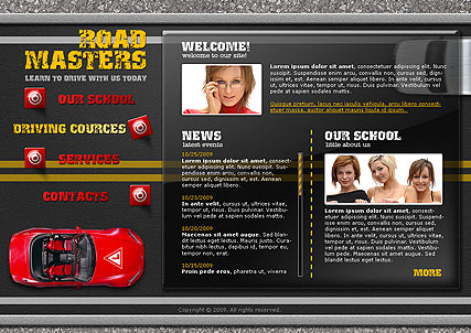 Driving School, Easy flash template