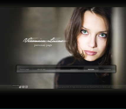 Personal Page, Dynamic Photo and Video Gallery Admin flash template