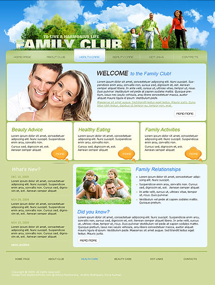 Family Club | Website template | ID:300110553