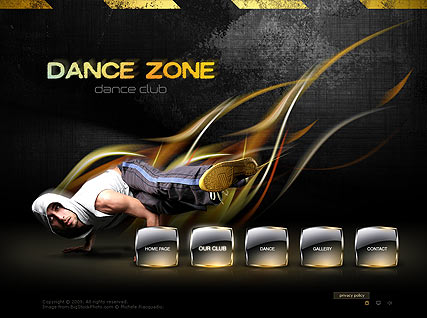 Dance Zone, Easy flash template