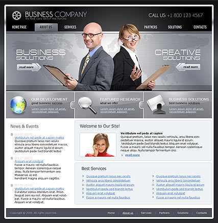 Business Company | Website template | ID:300110562