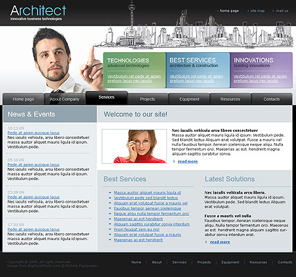 Architect, Website template