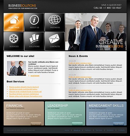 Business Solutions | Website template | ID:300110568