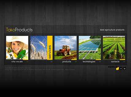 Agriculture Products, Easy flash template