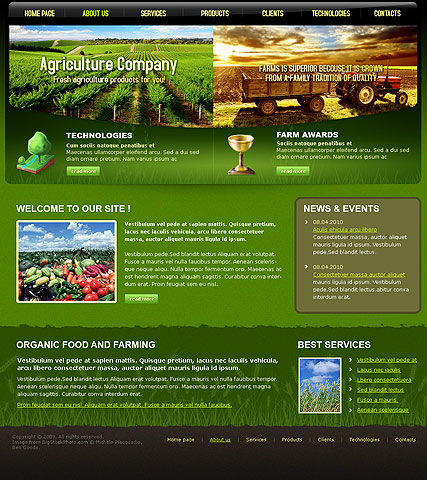 Agriculture Company | Website template | ID:300110614