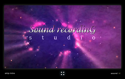 Name: Sound Recording - Type: Flash intro template - Item number:300110616