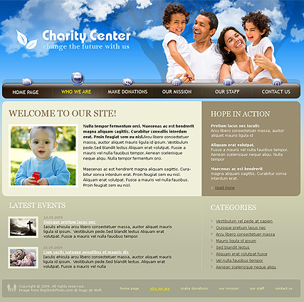 Charity Center | Website template | ID:300110624