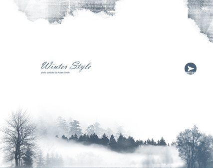 Winter Style, Dynamic Photo Gallery Admin flash template
