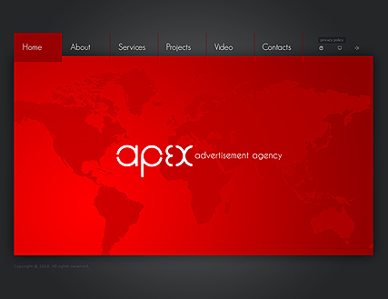 Name: Advertisement CO. - Type: VideoAdmin flash templates - Item number:300110651