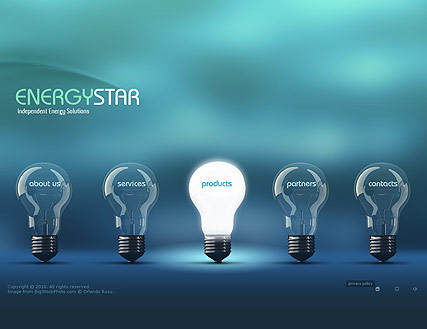 Energy Company, Easy flash template