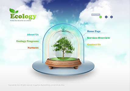 Ecology Protection, Easy flash template