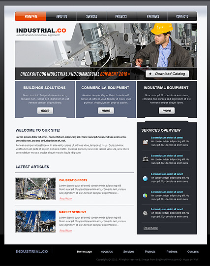 Name: Industrial - Type: Website template - Item number:300110688