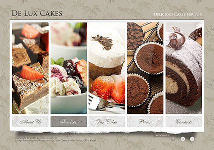 Cakes, Easy flash template