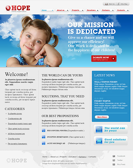 Name: Charity - Type: Website template - Item number:300110699