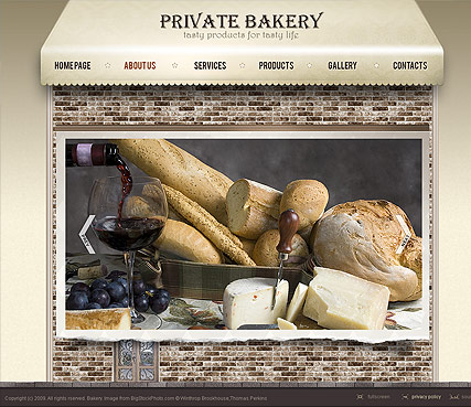 Bakery, Easy flash template