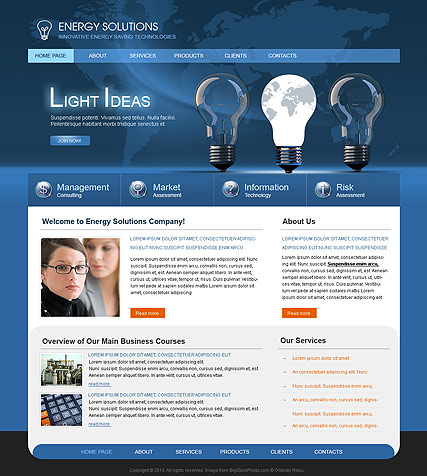 Energy Solutions, Website template