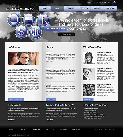 Name: Global Way - Type: Website template - Item number:300110736