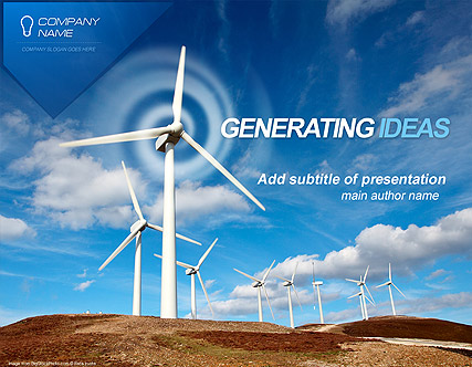 Wind energy microsoft powerpoint template id300110747 wind energy website template toneelgroepblik Gallery