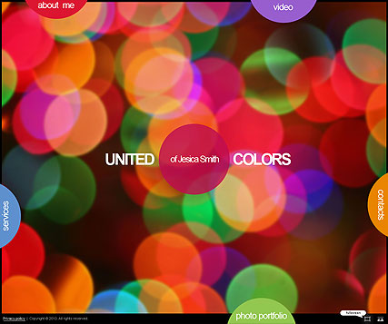 United colors, Dynamic Photo and Video Gallery Admin flash template