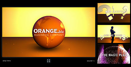 Name: Orange Business - Type: Flash intro template - Item number:300110778