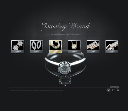 Jewelry brand, Dynamic Video Gallery Admin flash template