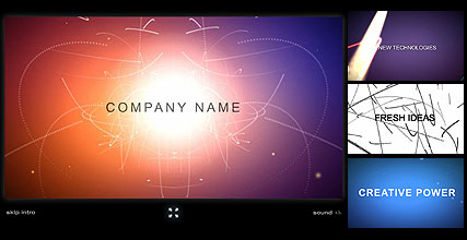 Name: Company Intro - Type: Flash intro template - Item number:300110781