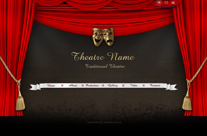 Theatre name Dynamic Video Gallery Admin flash template ID300110789