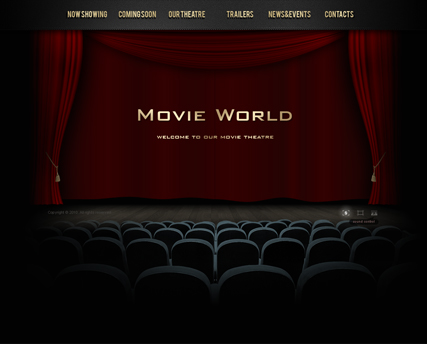movie theatre dynamic video gallery admin flash template id 300110793. Black Bedroom Furniture Sets. Home Design Ideas