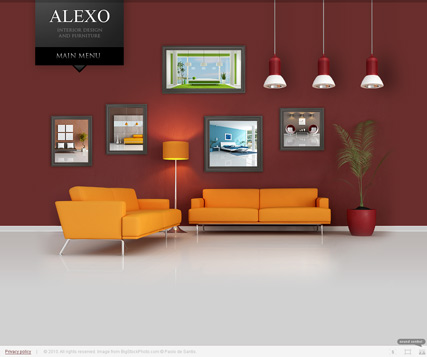 Interior Design, Dynamic Photo and Video Gallery Admin flash template