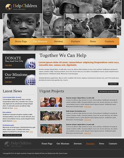 Charity, HTML template