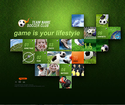 Name: Soccer Club - Type: VideoAdmin flash templates - Item number:300110822