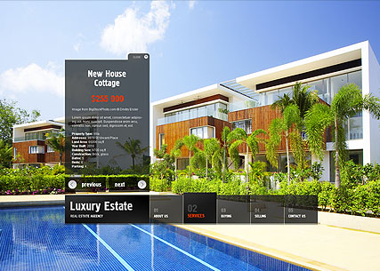 Real Estate, Easy flash template