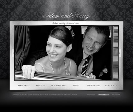 Wedding, Dynamic Photo and Video Gallery Admin flash template