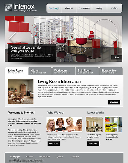 Interior Design, HTML template