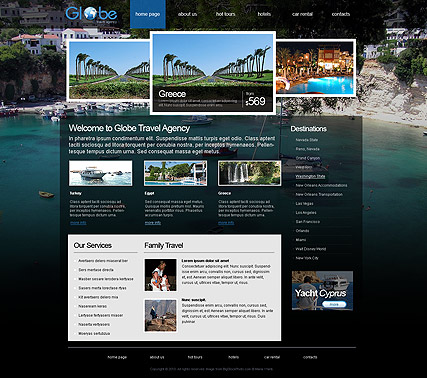Travel Agency, HTML template