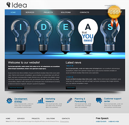 CSS Business Idea, HTML template